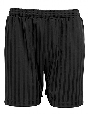 Black Shadow Stripe PE Shorts- Simply Uniform